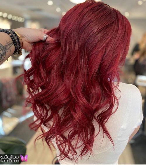 رنگ مو زیبا برای عروس
