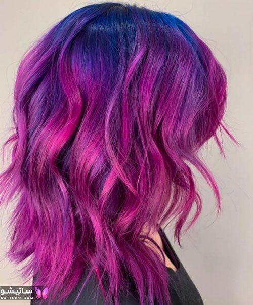 انواع رنگ مو جدید شیک
