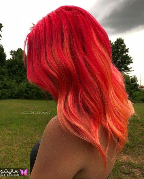 مدلهای رنگ مو با دکلره