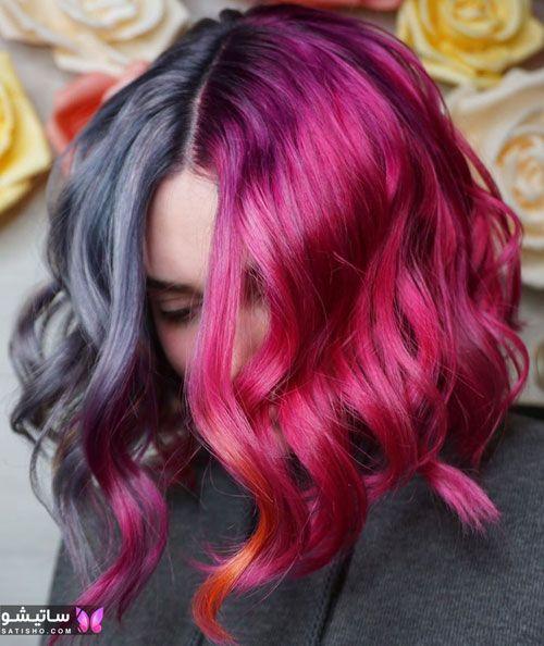 مدل رنگ مو دخترانه فانتزی