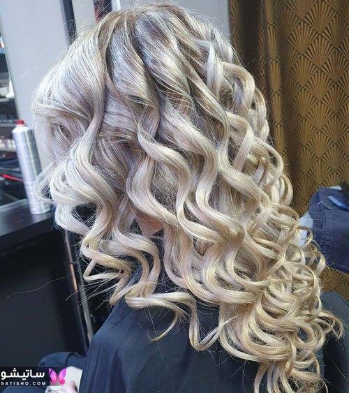 رنگ موی استخوانی مناسب شینیون عروس