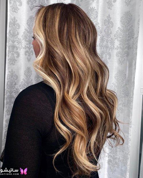 آموزش رنگ کردن مو به روش بالیاژ