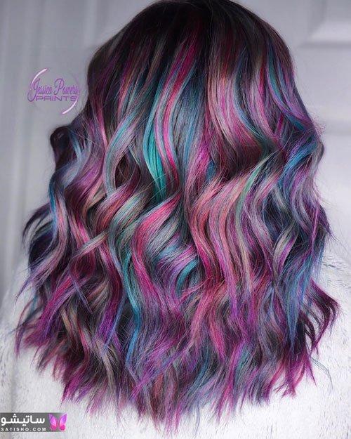رنگ موی هایلایت برای موی کوتاه