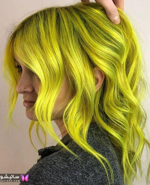 رنگ موی جدید دخترانه برای مو کوتاه