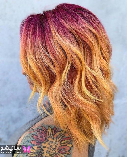 رنگ موی های لایت دخترانه جدید