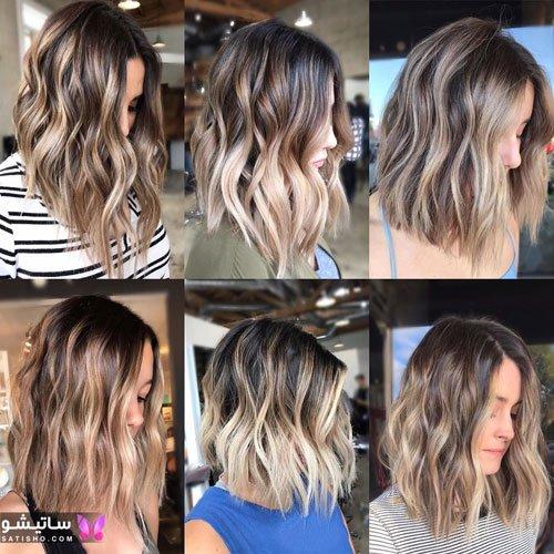 رنگ موهای جدید برای موهای کوتاه