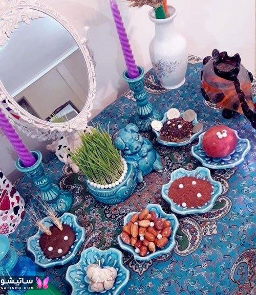 سفره آرایی عید نوروز با تم سنتی