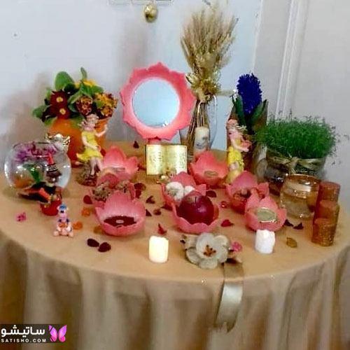 تزیین سبزه عید برای عروس