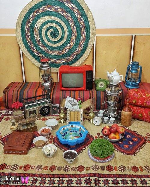 ایده برای ظرف سبزه عید در محل سنتی