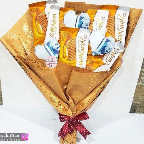 دسته گل پول و شکلات