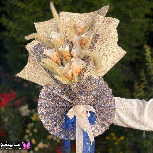 دسته گل پولی برای عیدی