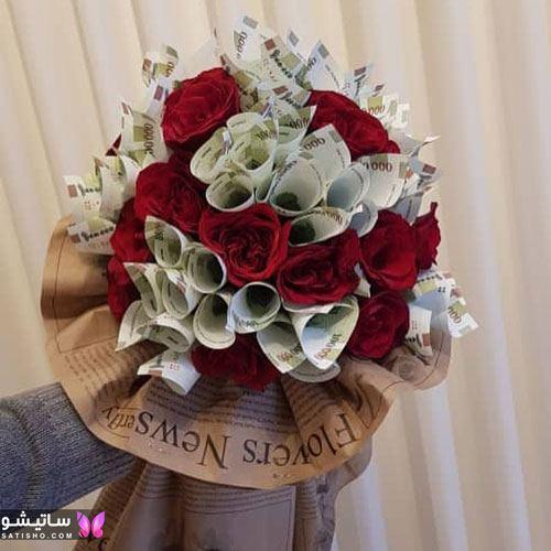 عکس تزیین دسته گل خوشگل برای تولد