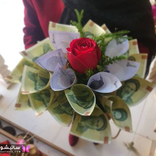 پول تزیین شده در باکس گل
