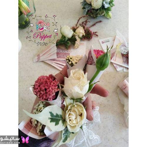 مدل تزیین گل رز برای عیدی دادن به عروس