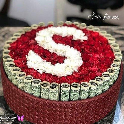 عکس باکس گل تزیین شده برای تولد