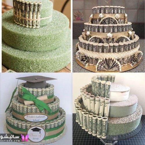کیک به شکل پول و رولت