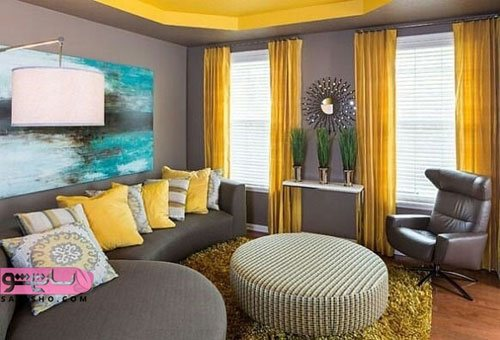 دکوراسیون خانه با رنگ زرد
