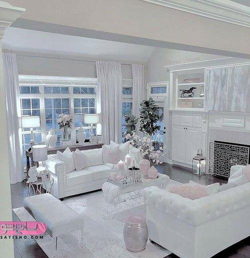 دکوراسیون داخلی منزل تم سفید