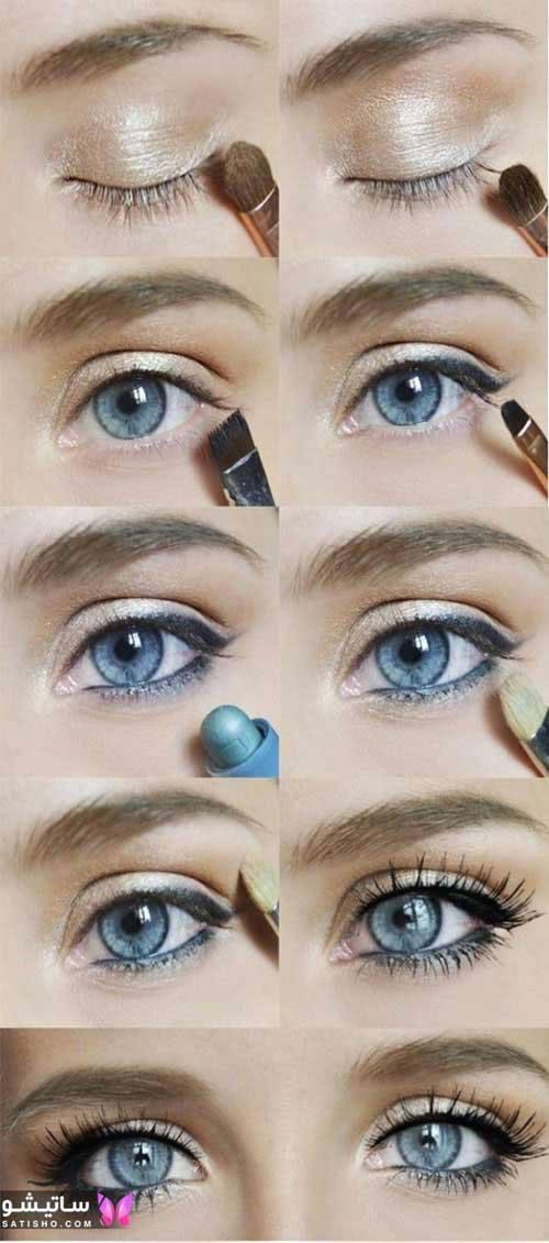 نمونه کشیدن خط چشم زنانه