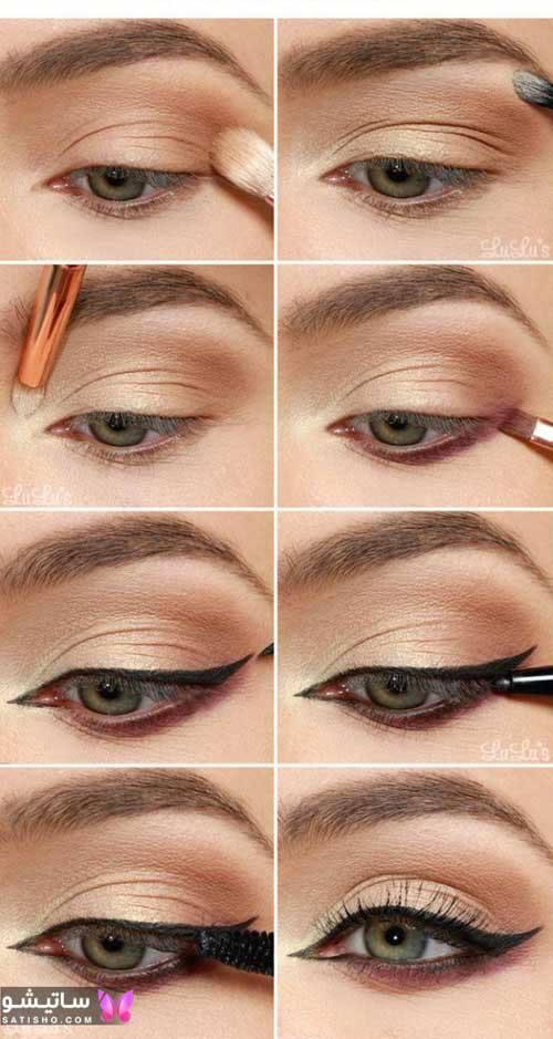 عکسهای آموزش کشیدن خط چشم