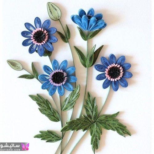 ایده آموزش ساخت ملیله کاغذی به شکل گل