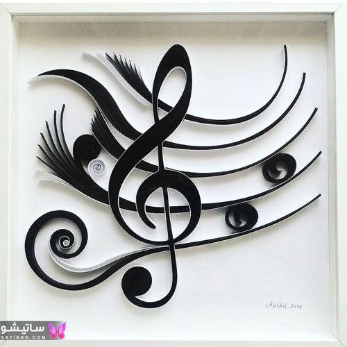 شکل ملیله کاغذی به شکل موسیقی