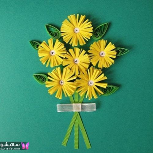 طرح گل با ملیله کاغذی