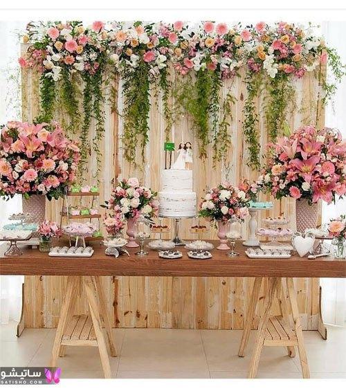 تزیین میز نامزدی ساده در منزل
