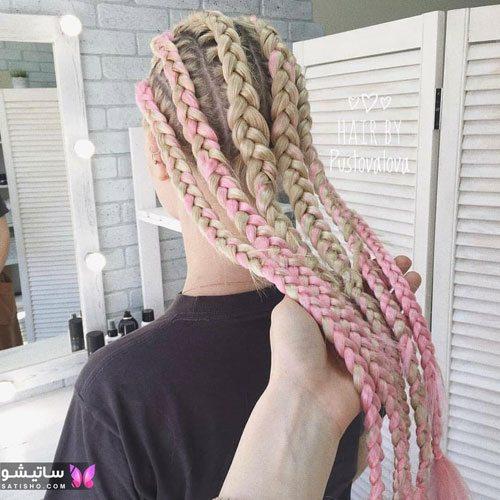 مدلهای بافت مو بچه گانه رنگ شده