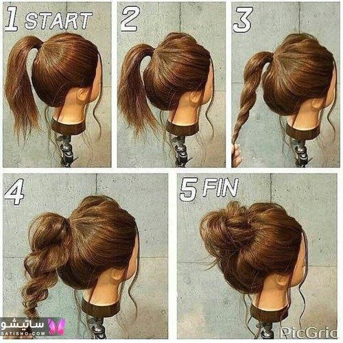 آموزش بافت مو دخترانه 99