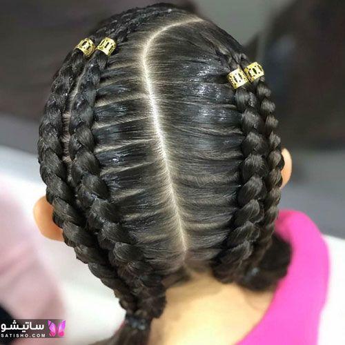 مدل بافت مو دخترانه ساده و شیک مرحله به مرحله