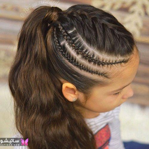 آموزش مدل بافت مو دخترانه