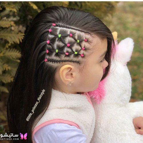 مدل شینیون مو دخترانه جدید