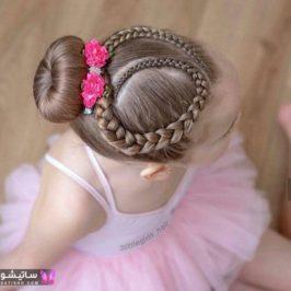 بافت مو دخترانه جلوی سر