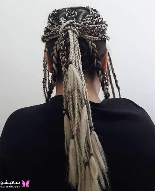 بافت مو دخترانه ساده جدید