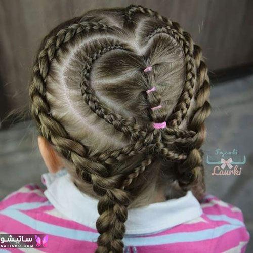 بافت مو دخترانه ساده