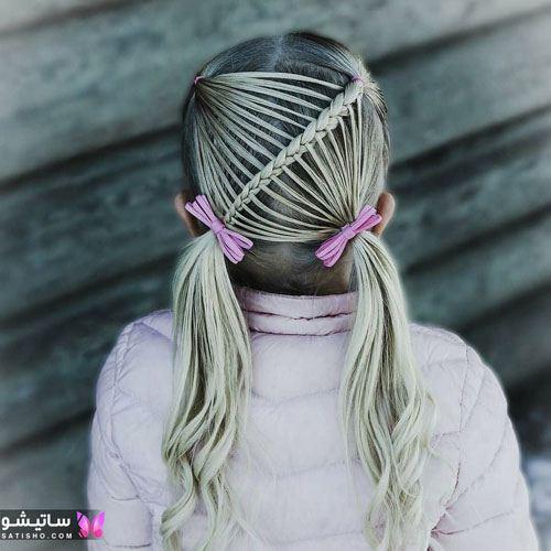 بافت مو دخترانه شیک