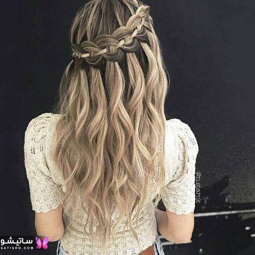 بافت مو دخترانه بلند