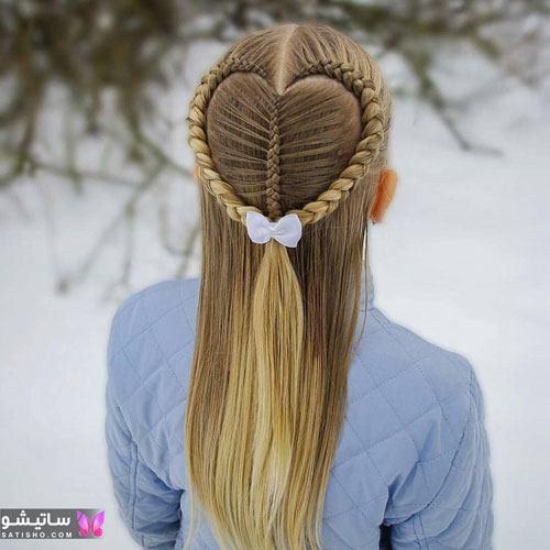 بافت مو دخترانه ساده و شیک