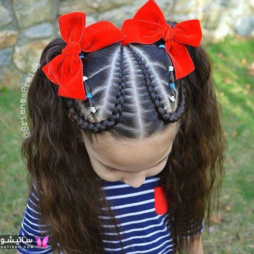 بافت مو دخترانه جدید