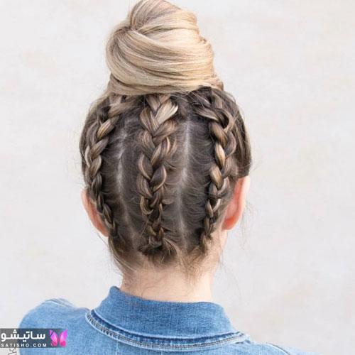 بافت مو دخترانه بسیار زیبا