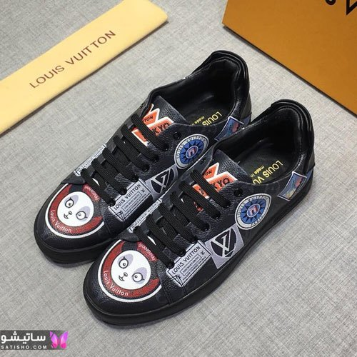 عکس مدل جدید کفش اسپرت پسرانه مـشکی رنگ