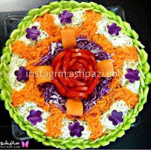 تزیین سالاد کاهو فصل برای جشن تولد