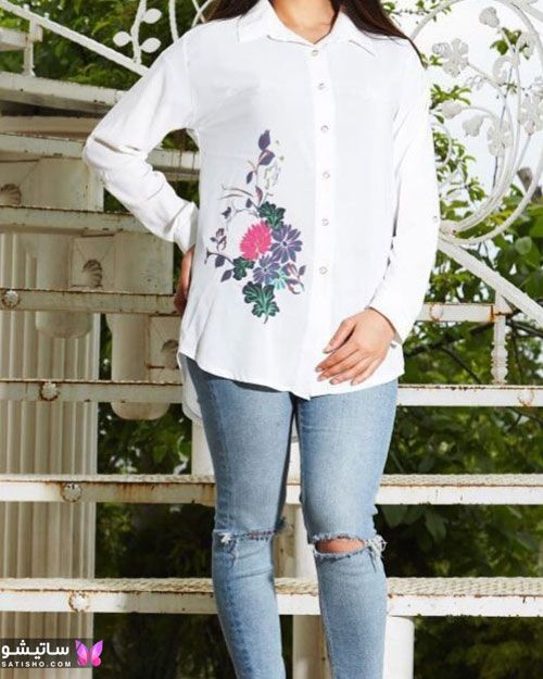 شیک ترین مدلهای شومیز زنانه بلند گلدار ویژه عید نوروز سال 1400