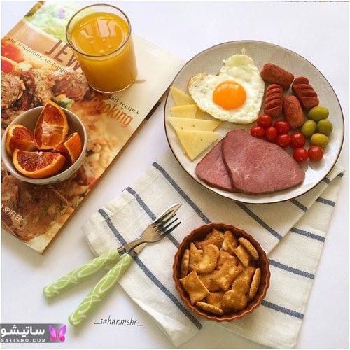 تزیین میز غذا با ظروف