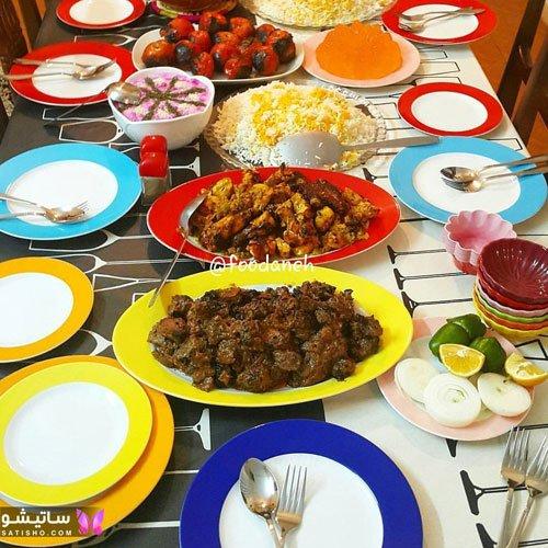تزیین میز غذا شیک