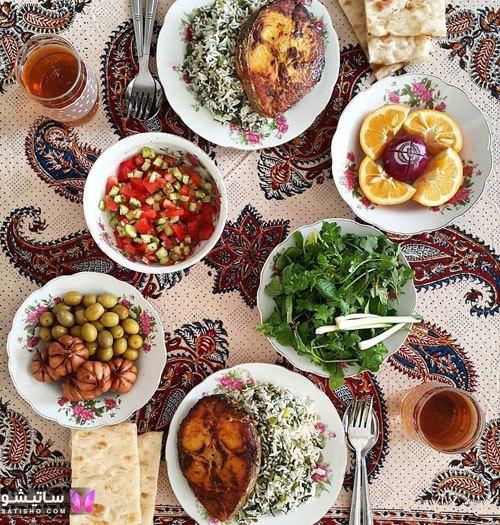 تصاویری دیدنی از انواع سفره ارایی و تزیین غذا