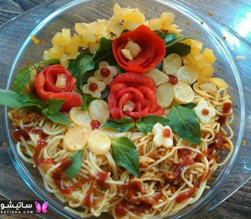 انواع تـزیین غذا و سالاد