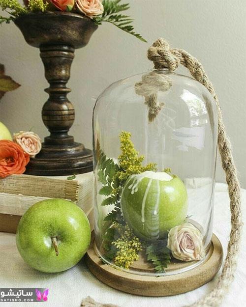 عکس تزیین سیب هفت سین به شکل لاکچری