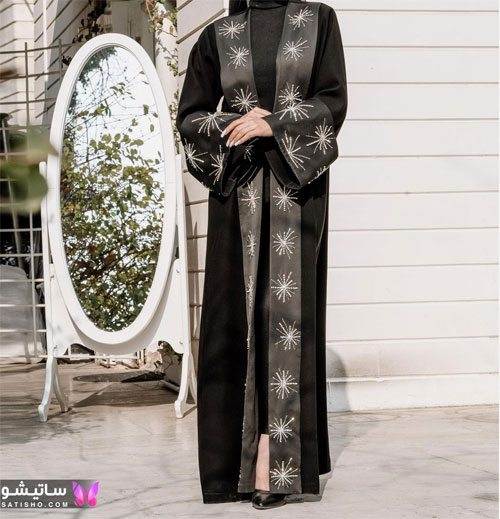 مدل مانتو مشکی بلند زنانه برای ماه محرم امسال
